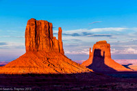 Monument Valley Mittens Sunset