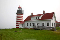 Quoddy Lighthouse, Maine, in fog
